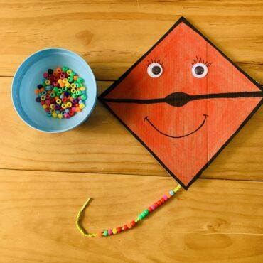 Decorate the kite: fun & easy  fine-motor activity